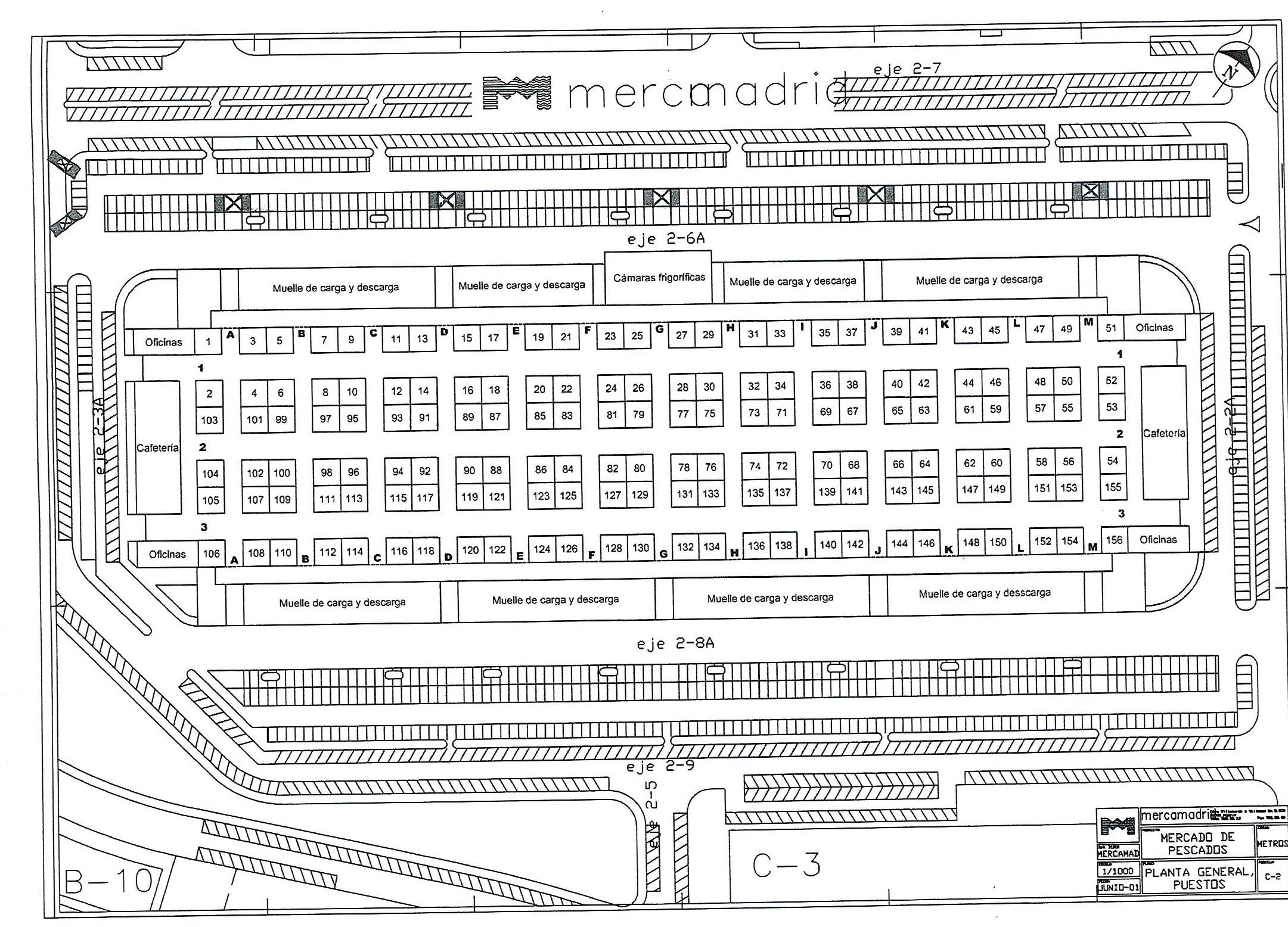 Plano mercamadrid AEMPM Historia de la aempm Historia de la aempm