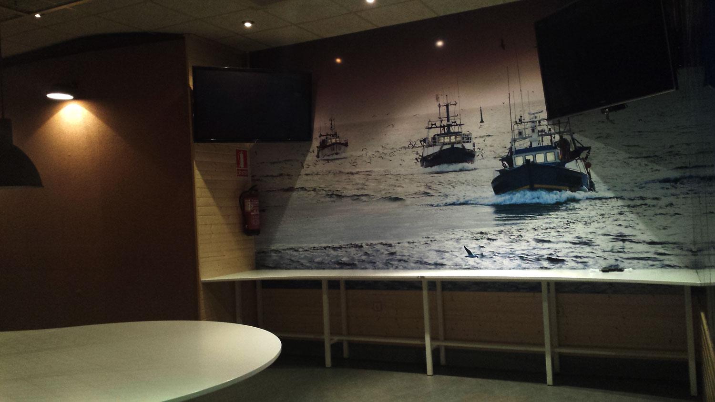 Centro interactivo del pescado mural barcos de pesca AEMPM Centro Interactivo del Pescado Centro Interactivo del Pescado
